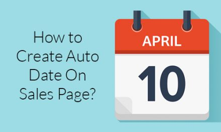 How to Create Auto Date On Sales Page?