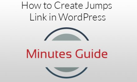 How to Create Jumps Link in WordPress?