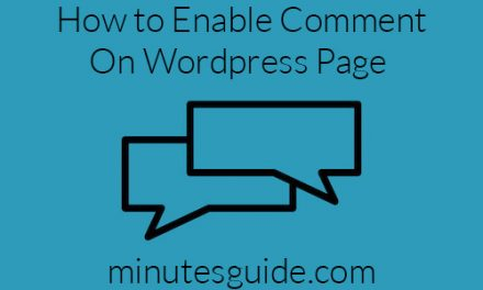 How to Enable Comment On WordPress Page?