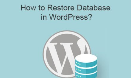 How to Restore Database in WordPress?