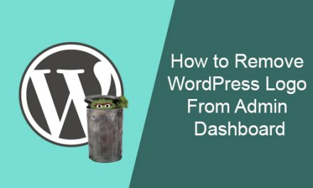 How to Remove WordPress Logo From Admin Dashboard