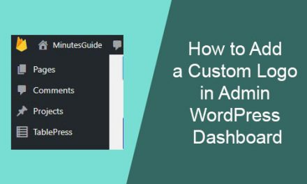 How to Change Custom Logo in Admin WordPress Dashboard