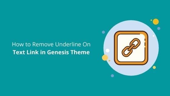 how to remove underline
