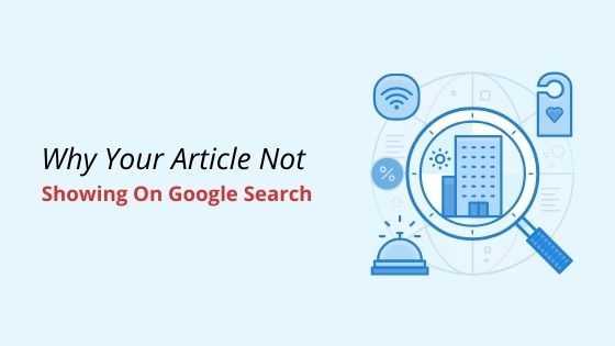 article not showing on Google search