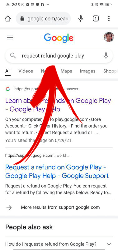 how to get refund google play
